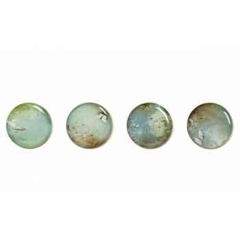 Ensemble de 4 assiettes plates pour service de table design Yuan Ibride
