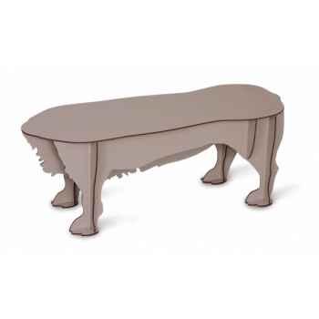 Petit banc basset Zelda anthracite mobilier de compagnie design Ibride