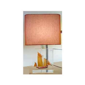 Petite Lampe Rectangle Chaloupe Can 23 Rouge Abat-jour Rectangle Rouge-103