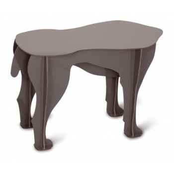 Tabouret Sultan le chien, couleur anthracite mobilier de compagnie design Ibride