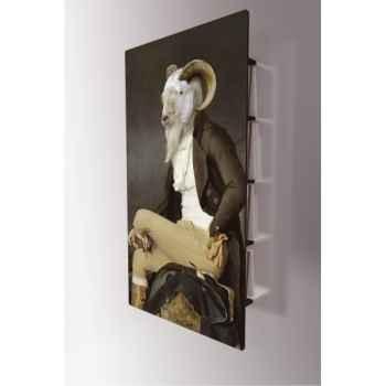 Tableau bibliothèque design murale 112 x 60 cm Rodolphe - Secrets les Dandys Ibride