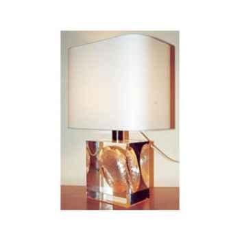 Petite Lampe Rectangle Haleotide Abat-jour Rectangle Blanc-106