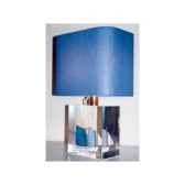 petite lampe rectangle lougre blanc bleu abat jour rectangle bleu fonce 107