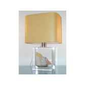 petite lampe rectangle lougre jaune abat jour rectangle jaune 108