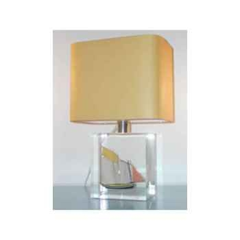Petite Lampe Rectangle Lougre Jaune Abat-jour Rectangle Jaune-108