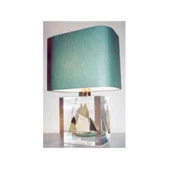 Petite Lampe Rectangle Thonier CC 798 Vert Abat-jour Rectangle Vert Foncé-110