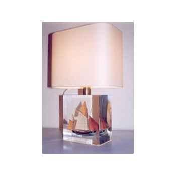 Petite Lampe Rectangle Thonier Tr 19 Deux Mâts Abat-jour Rectangle Beige-114