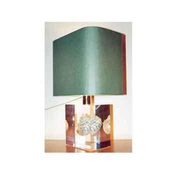 Petite Lampe Rectangle Turbo Vert Abat-jour Rectangle Vert Foncé-115