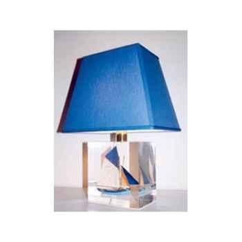 Petite Lampe Thonier Ls 90 Bleu AB Trapèze Bleu Foncé-118