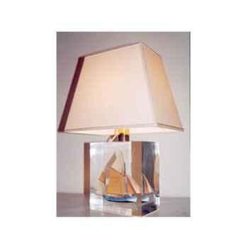 Petite Lampe Trapeze Thonier Gx Abricot Abat-jour Trapeze Beige-117