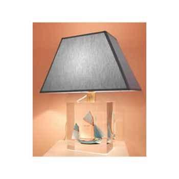 Petite Lampe Trapeze Thonier Gx Bleu Abat-jour Trapeze Bleu Azur-118-1