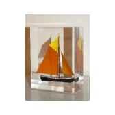 mini inclusion petite barque abricot fonce jaune marron 501