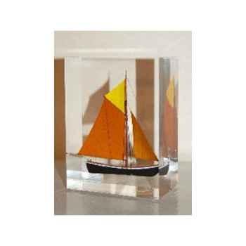 Mini Inclusion Petite Barque Abricot Foncé Jaune & Marron-50.1