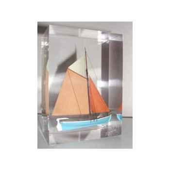 Mini Inclusion Petite Barque Bleu et Abricot-48