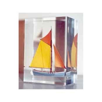 Mini Inclusion Petite Barque Grise et Jaune-52