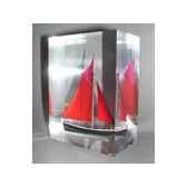 mini inclusion petite barque rouge parme 541