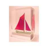 mini inclusion petite barque rouge verte 522