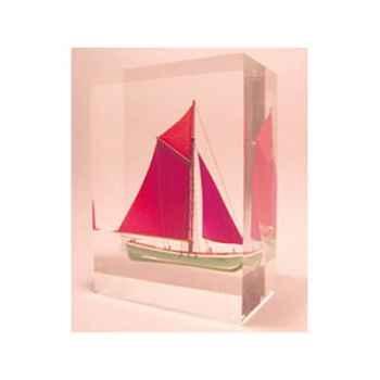 Mini Inclusion Petite Barque Rouge & Verte-52.2
