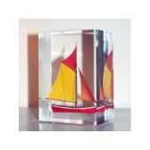 mini inclusion petite barque rouge et jaune 54