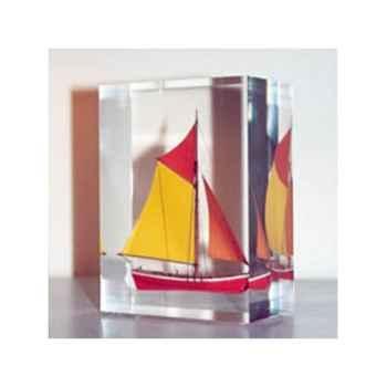 Mini Inclusion Petite Barque Rouge et Jaune-54