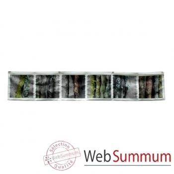 """Maron Bouillie-Sur le passage-Vide-poches horizontal, illustration """"Bois""""."""