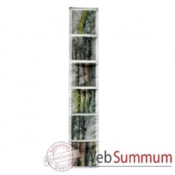 """Maron Bouillie-Sur le passage-Vide-poches vertical, illustration """"Bois""""."""
