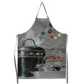 maron bouillie batterie de cuisine tablier de cuisine illustration gamelles