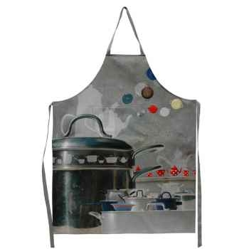 """Maron Bouillie-Batterie de cuisine-Tablier de cuisine, illustration """"Gamelles""""."""