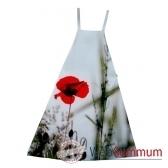 maron bouillie tablier robe illustration fleurs coquelicots
