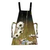 maron bouillie tablier robe illustration fleurs marguerites
