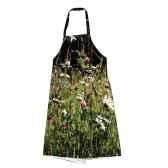 maron bouillie tablier robe illustration fleurs de printemps