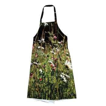 Maron Bouillie-Tablier-robe illustration fleurs de printemps.