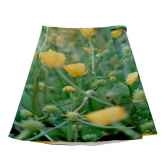 maron bouillie tablier robe illustration fleurs boutons or