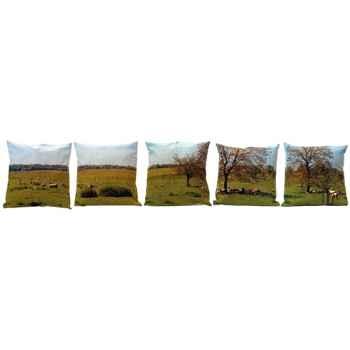 Maron Bouillie-Coussins Moutons, série de 5 coussins.