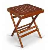 petite table pliante en acajou massif carree meuble de navire charcot i