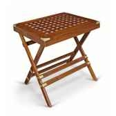 petite table pliante en acajou massif de rectangulaire meuble de navire charcot ii