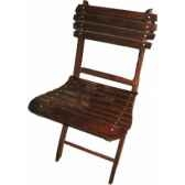 chaise pliante en palissandre massif a barreaux meuble de navire baker