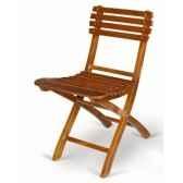 chaise pliante en acajou massif a barreaux meuble de navire baratier