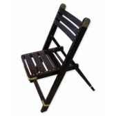 chaise pliante en palissandre massif et laiton a larges barreaux meuble de navire barth