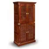armoire haute a 2 corps en acajou massif avec poignees renforts de protection et ornement pour la marine en laiton massif meubl