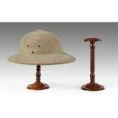 porte chapeau acajou massif meuble de navire a02040001