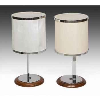 Objet de colletion, lampe de commodes en métal chromé henri lancel du paquebot norway avec certificat d'expertise Meuble de navi