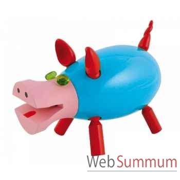 Tirelire le cochon qui rit bleue Leblon-Delienne CQRST018BL