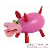 tirelire le cochon qui ri rose leblon delienne cqrst018rs