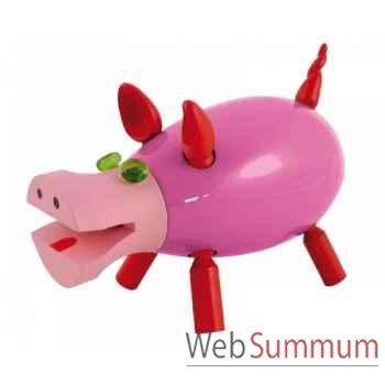 Tirelire le cochon qui ri rose Leblon-Delienne CQRST018RS