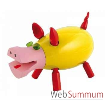 Tirelire le cochon qui rit jaune Leblon-Delienne CQRST018JA