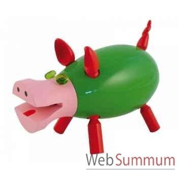Tirelire le cochon qui rit vert Leblon-Delienne CQRST018VE