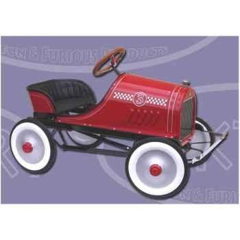 Piktor-P623-Voiture à pédale Classic Race rouge.
