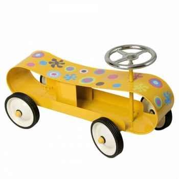 Baghera - Porteur Speedster stream line jaune - 57 x 25 cm - 1 an+ - personnalisable - Baghera-899