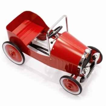 Voiture à pédales en métal - rouge - 82 x 43 cm - 3 à 5 ans - pédales réglables - Baghera-1938
